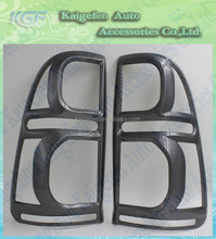 Carbon fiber taillight cover rear light trims for Toyota vigo 2012