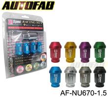 - autofab 20 pcs d1 llanta de la rueda del estirón frutossecos m12xp1.5 de bloqueo para honda toyota lexus mitsubishi