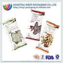 china supplier wholesale waterproof plastic snack food packaging envelope