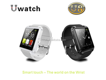 Smart Phone Gmail CNN APP ZAKER waterproof bluetooth MTK6260-A stocked silicon sports wristband U8 wrist smart watch Android