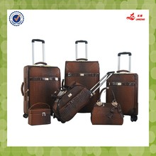 """luggage set 6pcs factory 12""""14""""18""""19""""23""""26""""inch 5in1 pu designer bags printed suitcases hot sale travelling luggage bag"""