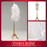VIVIANSBRIDAL Women's Short Off White Wedding Bridal Veils V12