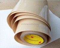 3M silicone double side tape 9731, silicone adhesive coated on one side of polyester film, provides good bond to silicone rubber