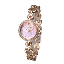 Nickel Free Plated Bangle Bracelet Wrist Watch King Quartz Ladies Jewelry Watch