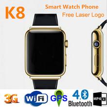 Newest design wifi bluetooth gps camera watch phone