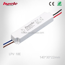LPV-18E waterproof LED driver with CE ROHS KC PSE TUV CCC certification