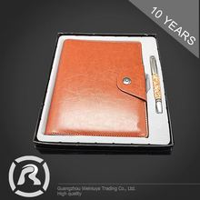 Custom Tag Specialized Produce PU Hardcover Notebook And Pen