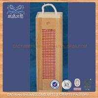 New Design Unfinished Cheap Wholesale Wooden Wine Bottle Boxes