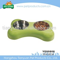 2015 Wholesale Cheap Travel Bone Shaped Stainless Steel Dog Bowl