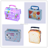 fancy custom printed packaging use toy packing cosmetics packing metal lunch tin box with lock and key