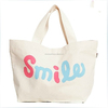 Green China Manufacturer New Style 100% high quality Cotton Canvas Tote bag with cross stitching Handle