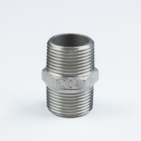 stainless steel npt to bsp thread nipple