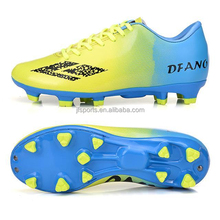 Top quality professional athletic rubber outsole kids soccer shoe child football shoe