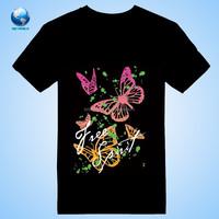 Make Your Own T Shirts Custom Printing&2015 New fashion 100% cotton custom printed t shirt&Cotton Black T-Shirts
