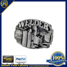 embossed logo belt buckle, made of zinc alloy/pewter, for collectible and gfits sets