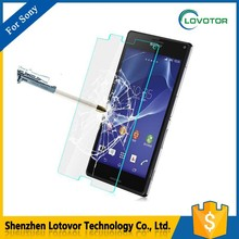 Anti-scratch clear tempered glass screen protector for sony xperia z1