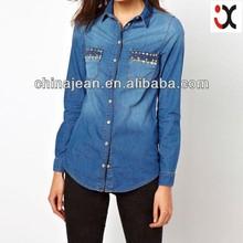 fashion new long kurta ladies jeans kurta JXJ24017