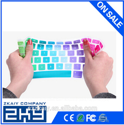 SZZKAIY-00326 OEM custom colorful silicone keyboard cover for mac silicone keyboard covers with factory price
