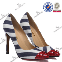 Global selling colorful fashion red bottom shoes price high heel shoes 2015
