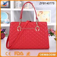 Cross pattern style fashion lady tote bag
