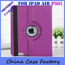 For iPad Air Case 360 Degree Rotating Leather Case For iPad 5&iPad Air
