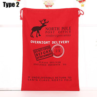 Wholesale Online With 100pcs Free Shipping with Cheap High Quality Christmas Gift Bags Santa Sack with Cotton Canvas Drawstring