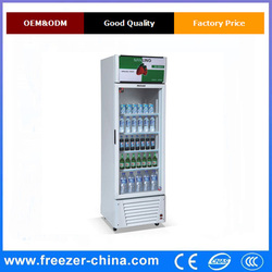 upright soft drink cooler used for convenience stores and grocery stores