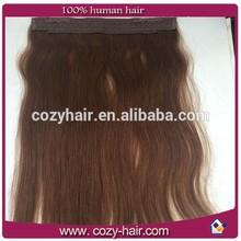 proveedor de oro de cabello humano baratos halo extensiones de cabello