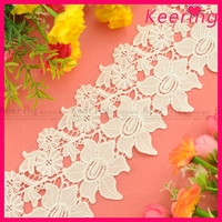 fashion bridal white cord lace fabric wholesale for decoration WLC134