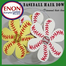 Softball/Baseball flower Hair Bow Bling