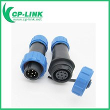 2 3 4 5 6 7 9 pin WEIPU SP13 Series Waterproof Cable Connector IP68 Plastic Circular For LED Screen