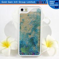 [NP-1850]Transparent Plastic Liquid Quicksand Glitter Stars Case Hard Case and Frame for iphone 6 plus