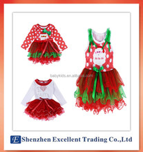 Girl Dress Christmas Costume New Baby Girls Man Dot Dress Cotton Red color children's Clothing 2-6 yrs