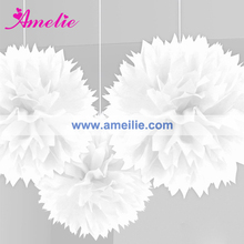 AF963 White paper flowers wedding wall decorations
