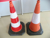 Hot sale! Great Quality Durable 100% Rubber Traffic Cone