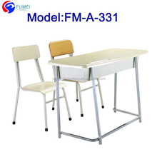 Cheap double desk and chair school