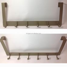 Metal Overdoor Clothes Coat Rack with 6 Hooks