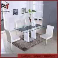 modern design glass top dining table indian bone inlay furniture