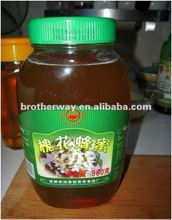 2012 HOT SALE transparent glass honey jar with metal twist off cap