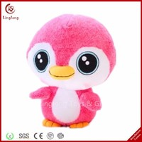 Super cute plush pink baby penguin toy stuffed penguin doll cartoon marine animal toys