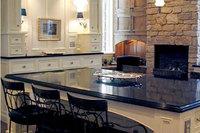 Black Modern Acrylic Round Kitchen Table Top