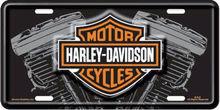 Harley-Davidson Logo con matrícula V-Twin