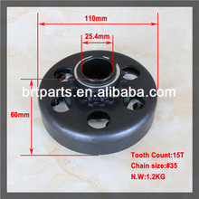 "High quality 15T 1"" #35 chain go kart clutch parts"