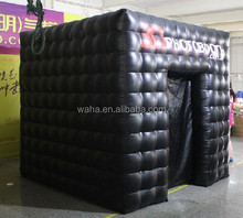 2015 newest wedding/event/party decoration black inflatable cube photo booth 2.5m*2.5m*2.5m