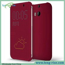 for HTC M8 Dot View Case, High Quality Side Flip Slim Dot View Case for HTC One 2 M8