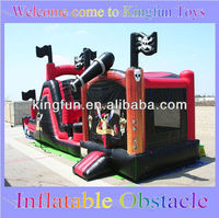 Spirate interactive obstacle course inflatables