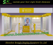 Eco-friendly sweet style kids clothes shop decoration with kids store design for FREE