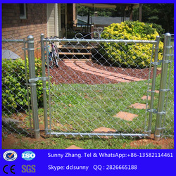 galvanized chain link fence door/fence gate price