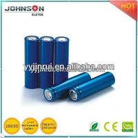 18650 3.7v 2400mah cell lithium polymer battery