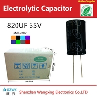 Small size Low Impedance and High ripple current Aluminum electrolytic capacitor 820UF 35V